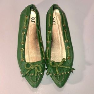 Cole Haan g Series Green Pointed Flats Size 6